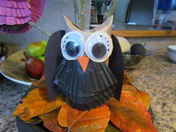 Fall Crafts With Children – Owl Handicraft For Cozy Hours (6)