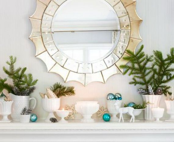 35 Gorgeous Holiday Mantel Decorating Ideas with Pine cones_15