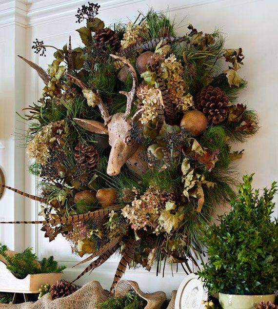 35 Gorgeous Holiday Mantel Decorating Ideas with Pine cones_18