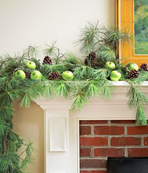 35 Gorgeous Holiday Mantel Decorating Ideas with Pine cones_34