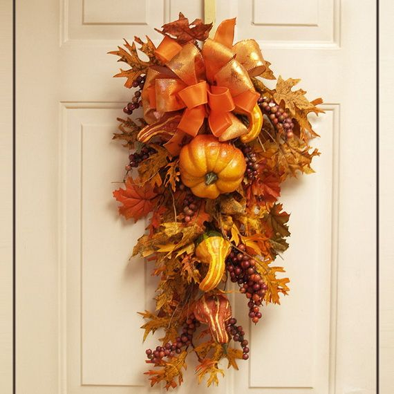 Splendid fall wreaths door decoration ideas and for Autumn flower decoration