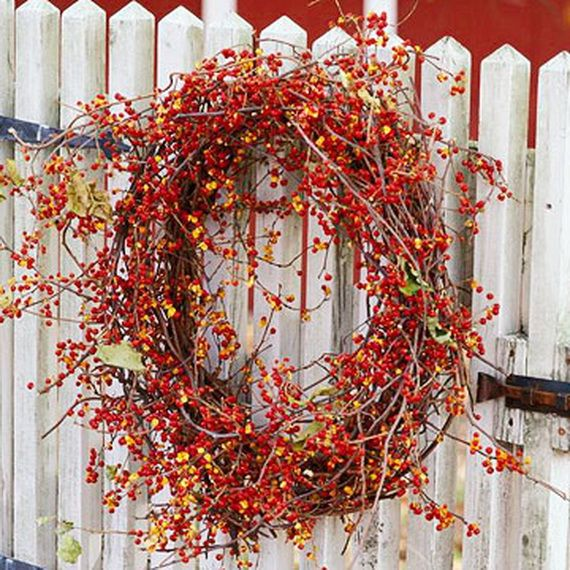 Splendid Fall Wreaths & Door Decoration Ideas And Inspiration_011