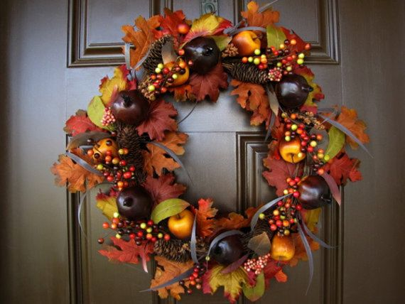 Splendid Fall Wreaths & Door Decoration Ideas And Inspiration_015