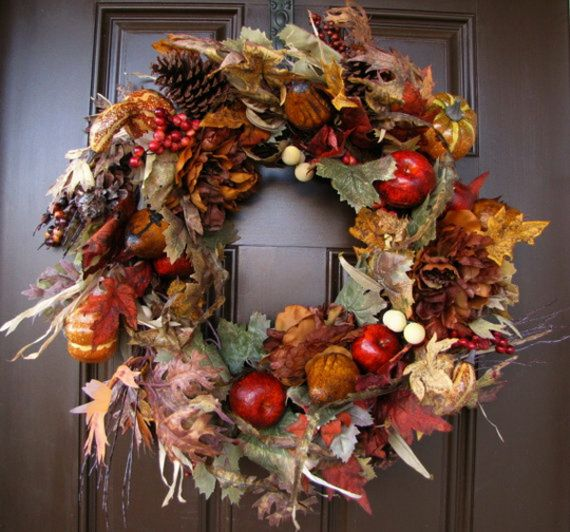 Splendid Fall Wreaths & Door Decoration Ideas And Inspiration_019