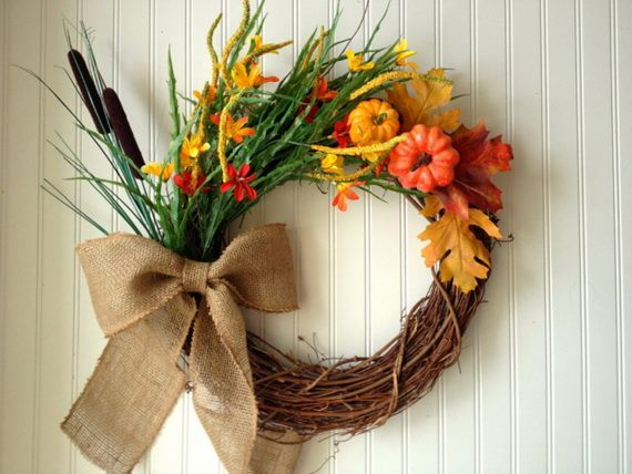 Splendid Fall Wreaths & Door Decoration Ideas And Inspiration_020
