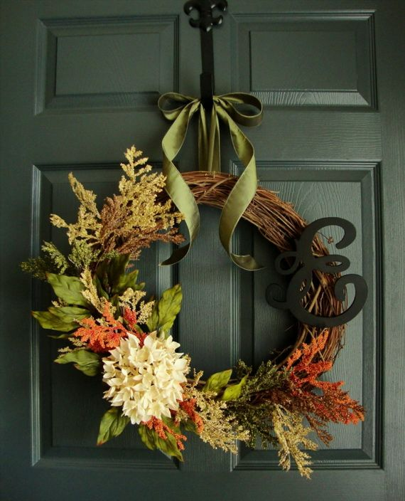Splendid Fall Wreaths & Door Decoration Ideas And Inspiration_037