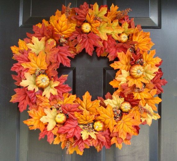 Splendid Fall Wreaths & Door Decoration Ideas And Inspiration_038