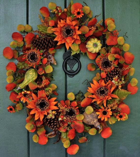 Splendid Fall Wreaths & Door Decoration Ideas And Inspiration_045
