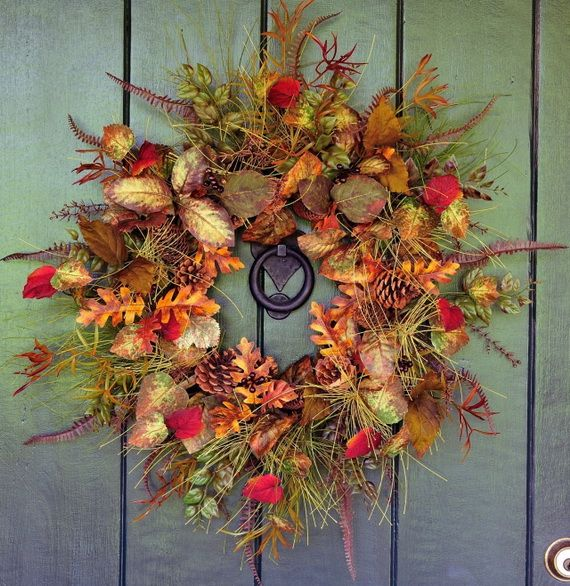 Splendid Fall Wreaths & Door Decoration Ideas And Inspiration_049