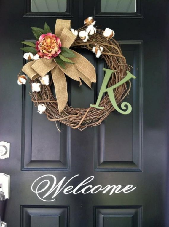 Splendid Fall Wreaths & Door Decoration Ideas And Inspiration_051