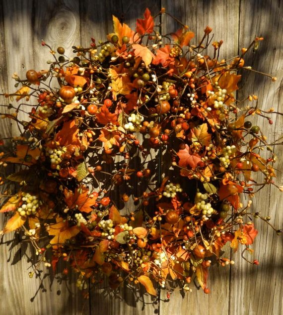 Splendid Fall Wreaths & Door Decoration Ideas And Inspiration_068