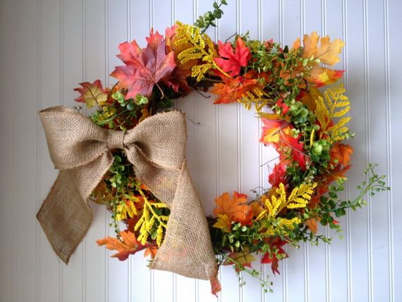 Splendid Fall Wreaths & Door Decoration Ideas And Inspiration_071