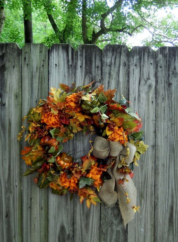 Splendid Fall Wreaths & Door Decoration Ideas And Inspiration_076