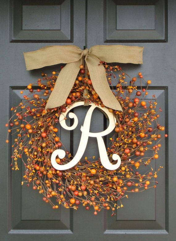 Splendid Fall Wreaths & Door Decoration Ideas And Inspiration_077