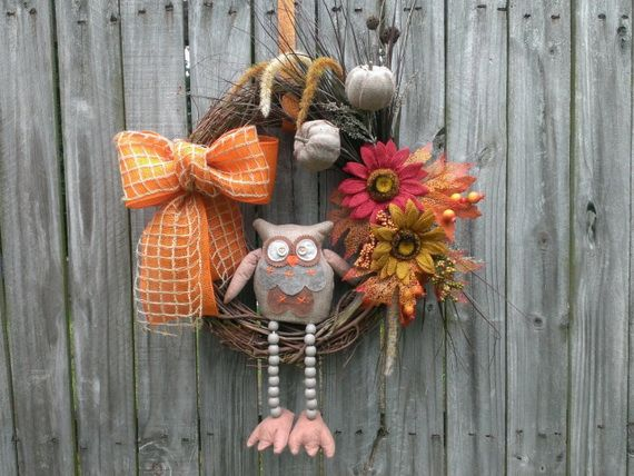 Splendid Fall Wreaths & Door Decoration Ideas And Inspiration_090
