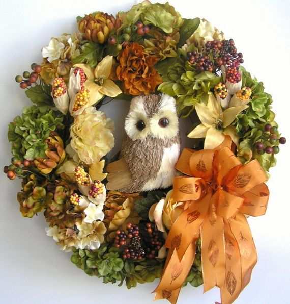 Halloween diy decor - Splendid Fall Wreaths Amp Door Decoration Ideas And