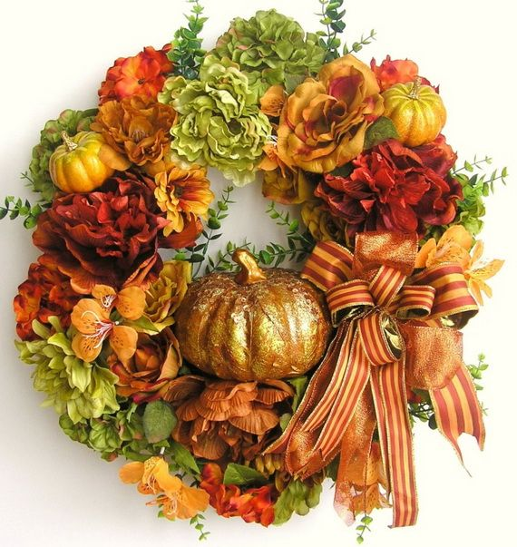 Splendid Fall Wreaths & Door Decoration Ideas And Inspiration_112