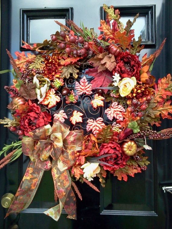 Splendid Fall Wreaths & Door Decoration Ideas And Inspiration_113