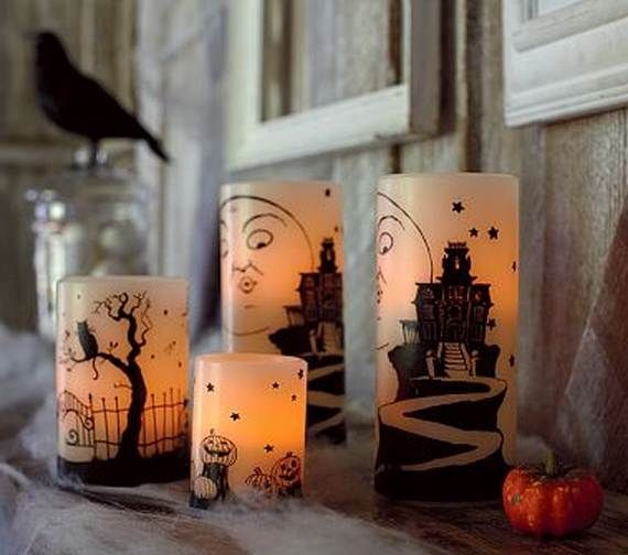 60 spooky halloween lighting candles decoration ideas for Decorating your home for halloween