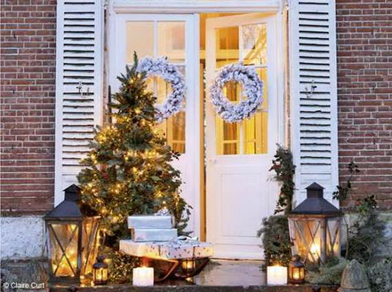 French christmas decorations christmas lights card and for French door decorating ideas