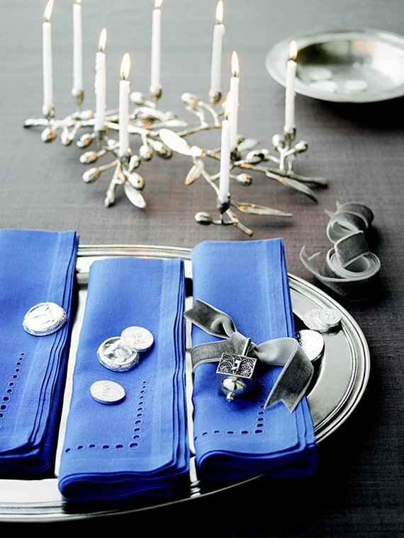 Classic and Elegant Hanukkah decor ideas_06