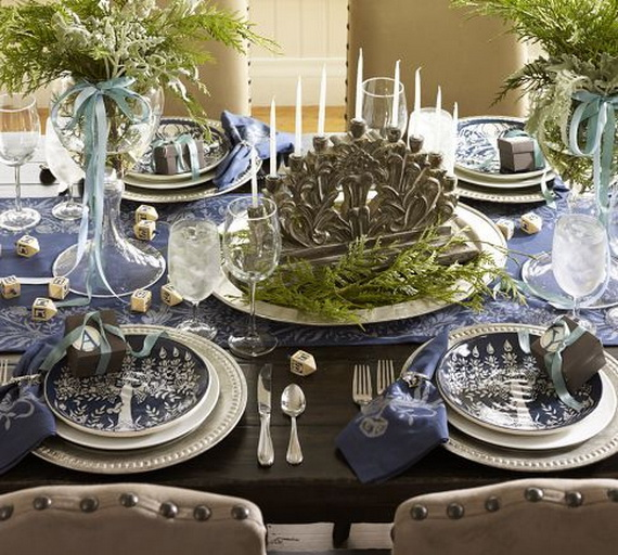 Classic and Elegant Hanukkah decor ideas_19
