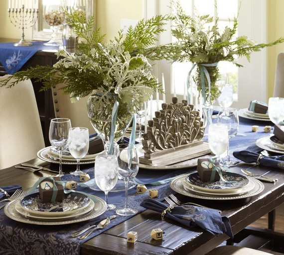 Classic and Elegant Hanukkah decor ideas_62