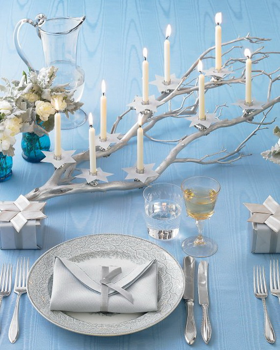 70 Classic and Elegant Hanukkah Decor Ideas - family holiday.net/guide ...