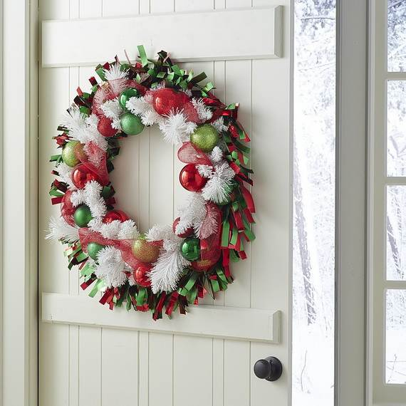 Diy Christmas Decoration For Doors : Cool diy decorating ideas for christmas front porch