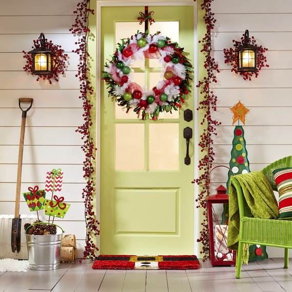 cool diy decorating ideas for christmas front porch_02 - Front Porch Christmas Decorations Ideas