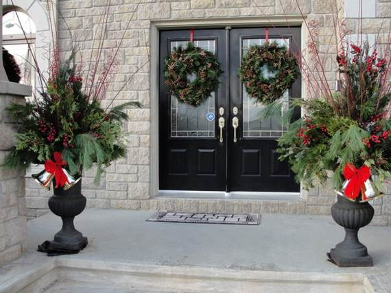 cool diy decorating ideas for christmas front porch_16