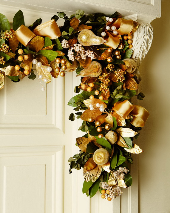 Creative holiday in gold decorating ideas family