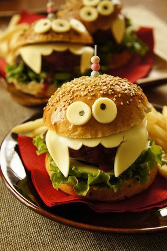 Halloween Hamburgers.Creepy Halloween Ideas 50 Edible Decorations For Halloween
