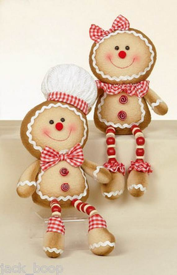 gingerbread decoration ideas christmas craft idea_022 - Gingerbread Christmas Decorations Beautiful To Look