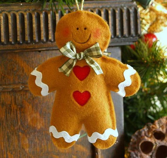 gingerbread decoration ideas christmas craft idea_029 - Gingerbread Christmas Decorations Beautiful To Look