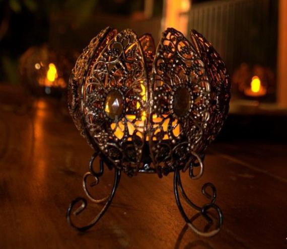 Whimsical Spooky Halloween Table Decoration Wedding Ideas _07