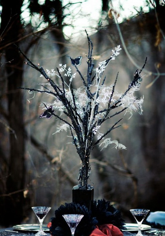 whimsical spooky halloween table decoration wedding ideas _21 - Halloween Table Decorating Ideas