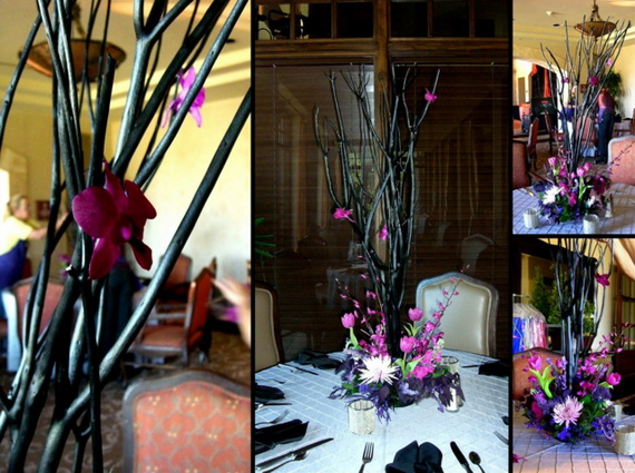 Whimsical Spooky Halloween Table Decoration Wedding Ideas _23