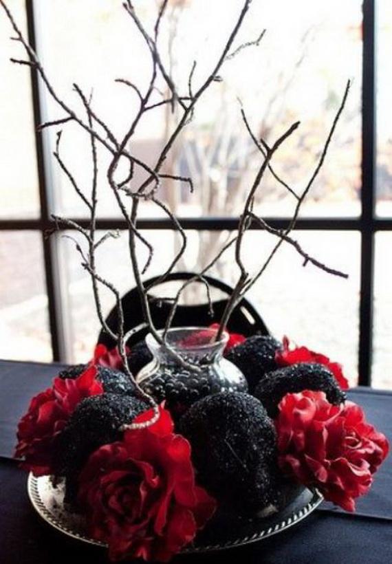 Whimsical Spooky Halloween Table Decoration Wedding Ideas _42