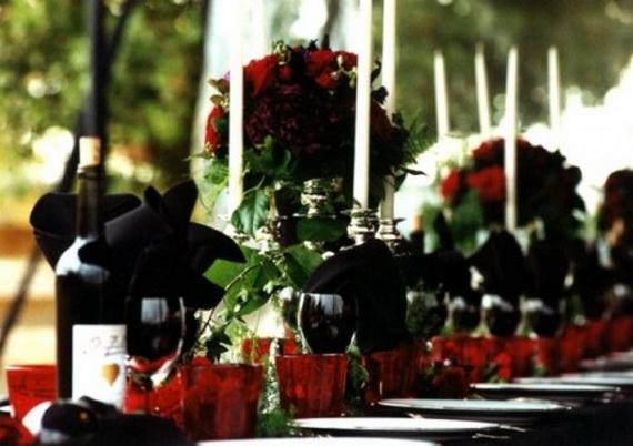 Whimsical Spooky Halloween Table Decoration Wedding Ideas _48