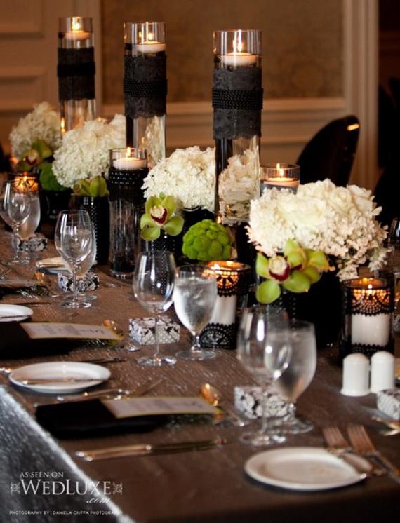 Whimsical Spooky Halloween Table Decoration Wedding Ideas _53