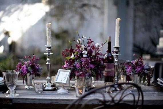 Whimsical Spooky Halloween Table Decoration Wedding Ideas _61