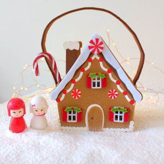 knitted gingerbread house 50 gingerbread decoration ideas christmas craft ideas family