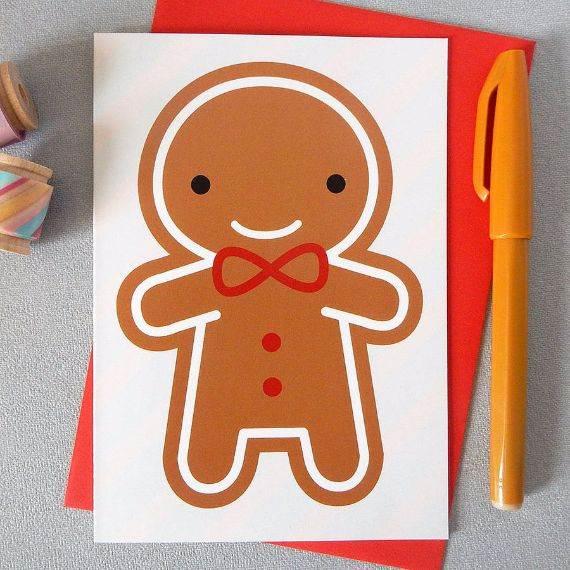 cookie-cute-kawaii-gingerbread-man-christmas-card