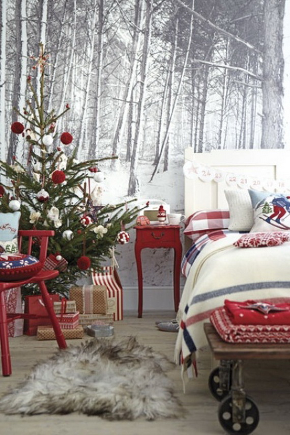 60 adorable bedroom decor ideas for christmas and special for Christmas bedroom decor