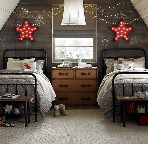 Adorable Bedroom Decor Ideas For Christmas and Special Occasion _56