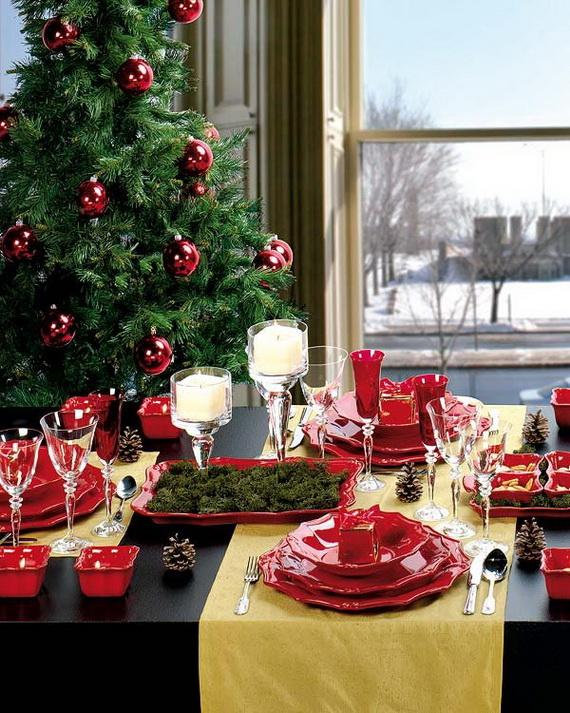 Amazing Christmas Dinner Table Decoration Ideas_10