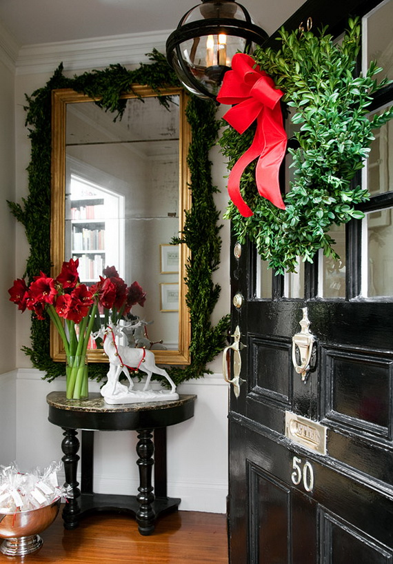 Creative Christmas Wreath Decor Ideas_22