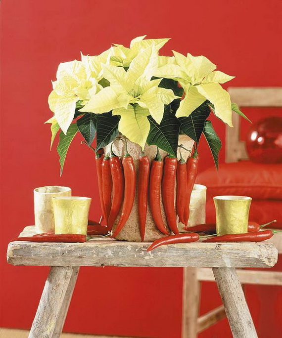 Decorate Christmas with 45 ideas poinsettias the holidays' most loved plant_36