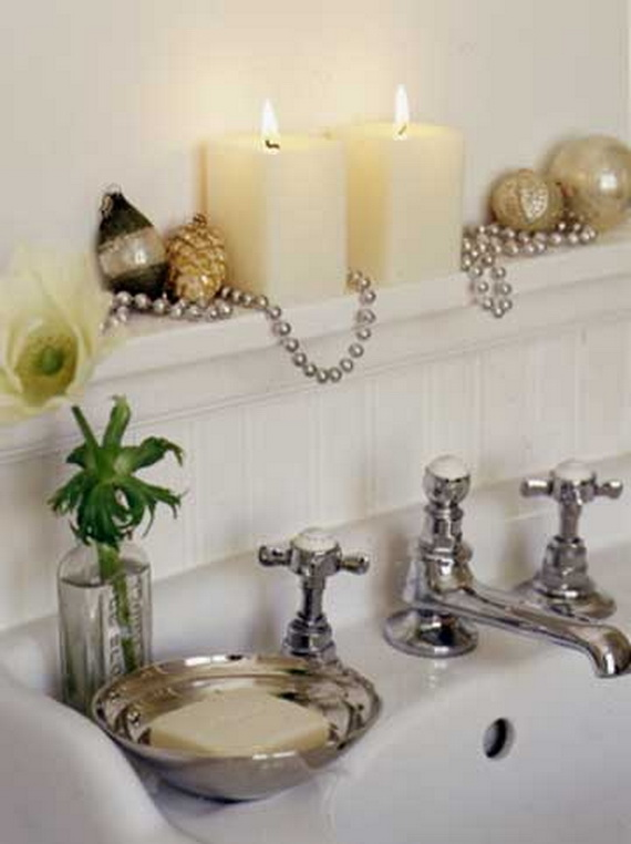 Bathroom Decorating Ideas With Candles 50 festive bathroom decorating ideas for christmas - family